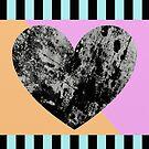 Lunar Heart - Abstract, Geometric, Pop Art Heart by Printpix