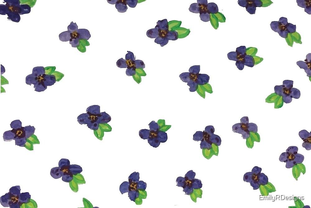 Purple Flower Galore!  by EmilyRDesigns