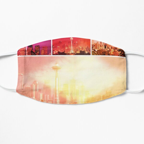 Shades of Red Space Needle Collage Mask