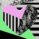 Shabby Love - Pop Art, Abstract, Geometric Heart by Printpix