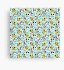 Kitten pattern Canvas Print