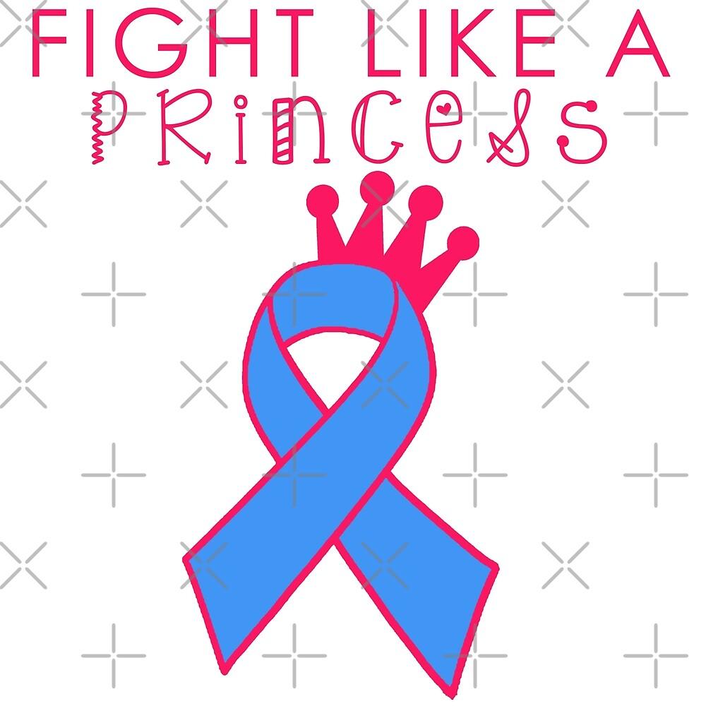 Fight Like A Princess - Blue by Nisa Katz