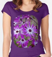 Pink and white radials Women's Fitted Scoop T-Shirt