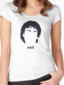 Neil Gaiman (Hirsute History) Women's Fitted Scoop T-Shirt