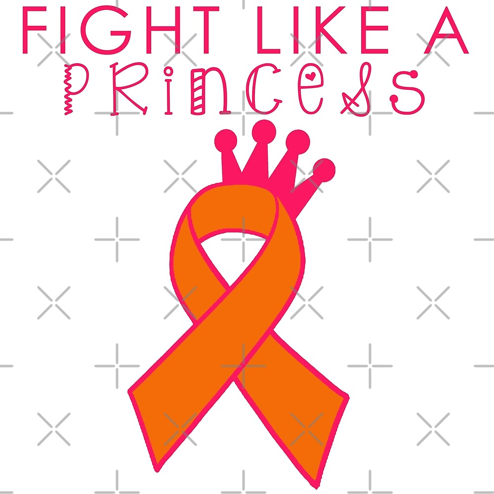 Fight Like a Princess - Orange by Nisa Katz
