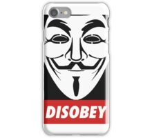 Anonymous Disobey Guy Fawkes iPhone Case/Skin
