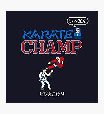 Karate Champ Retro Videogame Photographic Print