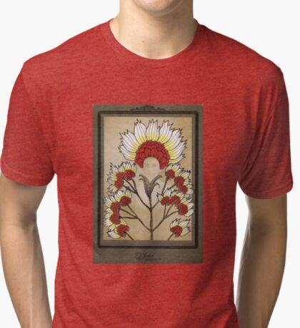 Red Flowers Bride Tri-blend T-Shirt