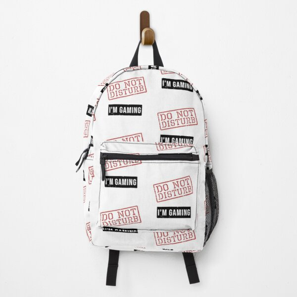 Funny Do Not Disturb I'm Gaming Gamer Gift  Backpack