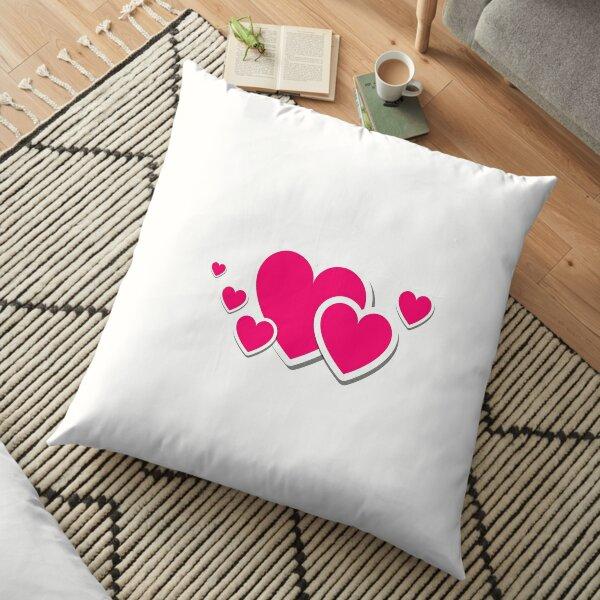 heart, heart-shaped Floor Pillow