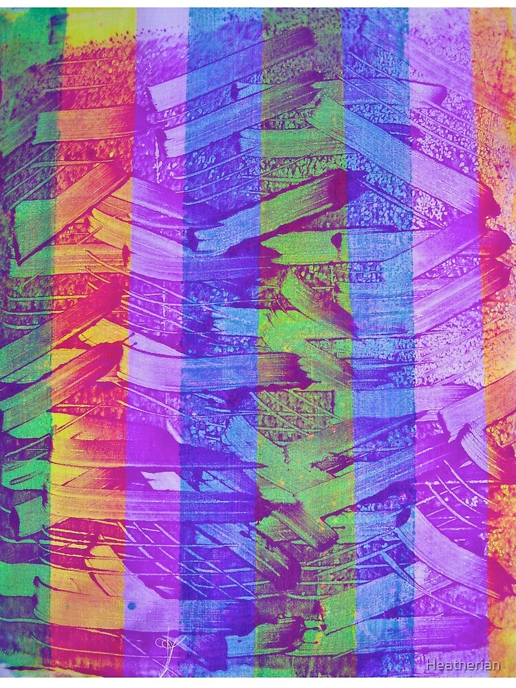 The Cliff Steps - Abract Monoprint by Heatherian