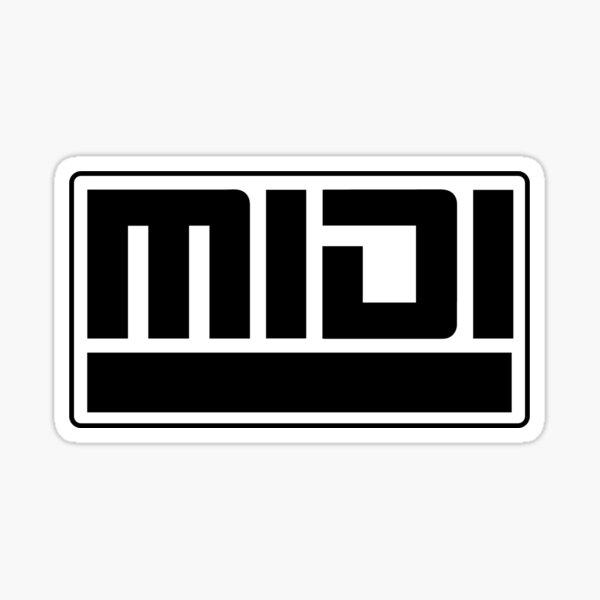 MIDI - Musical Instrument Digital Interface Sticker