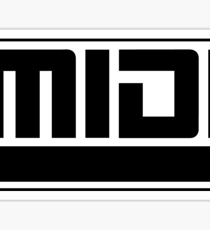 MIDI - Musical Instrument Digital Interface Sticker