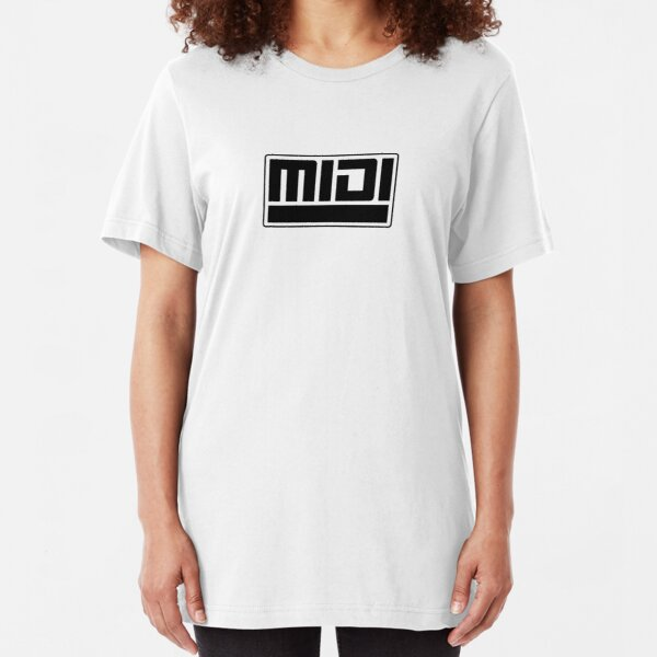 MIDI - Musical Instrument Digital Interface Slim Fit T-Shirt