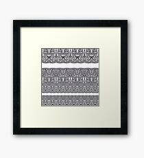 Tribal Corset  Framed Print