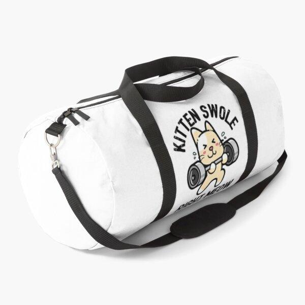Kitten Swole Right Meow Funny Cat Gym Workout Pun Duffle Bag