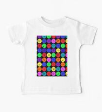 Black Neuron Dots  Baby Tee