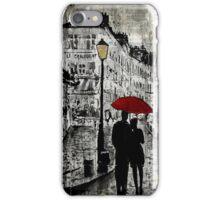 rainy promenade iPhone Case/Skin