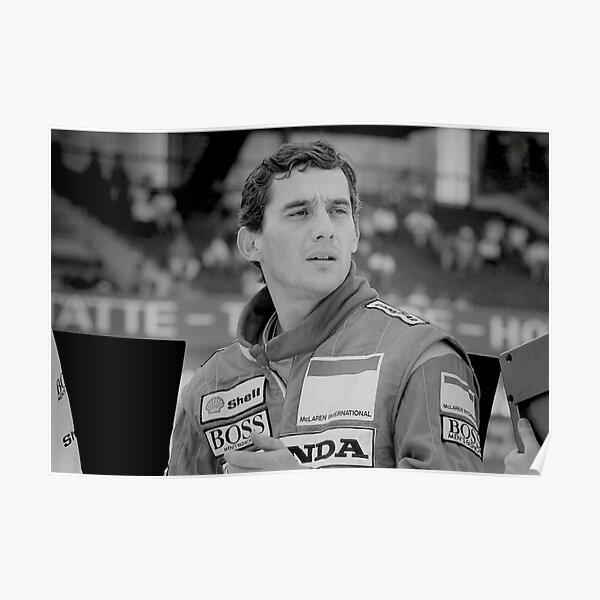 Pilote de Formule 1 Ayrton Senna Poster