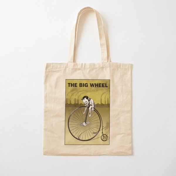 Guy on a penny farthing Cotton Tote Bag