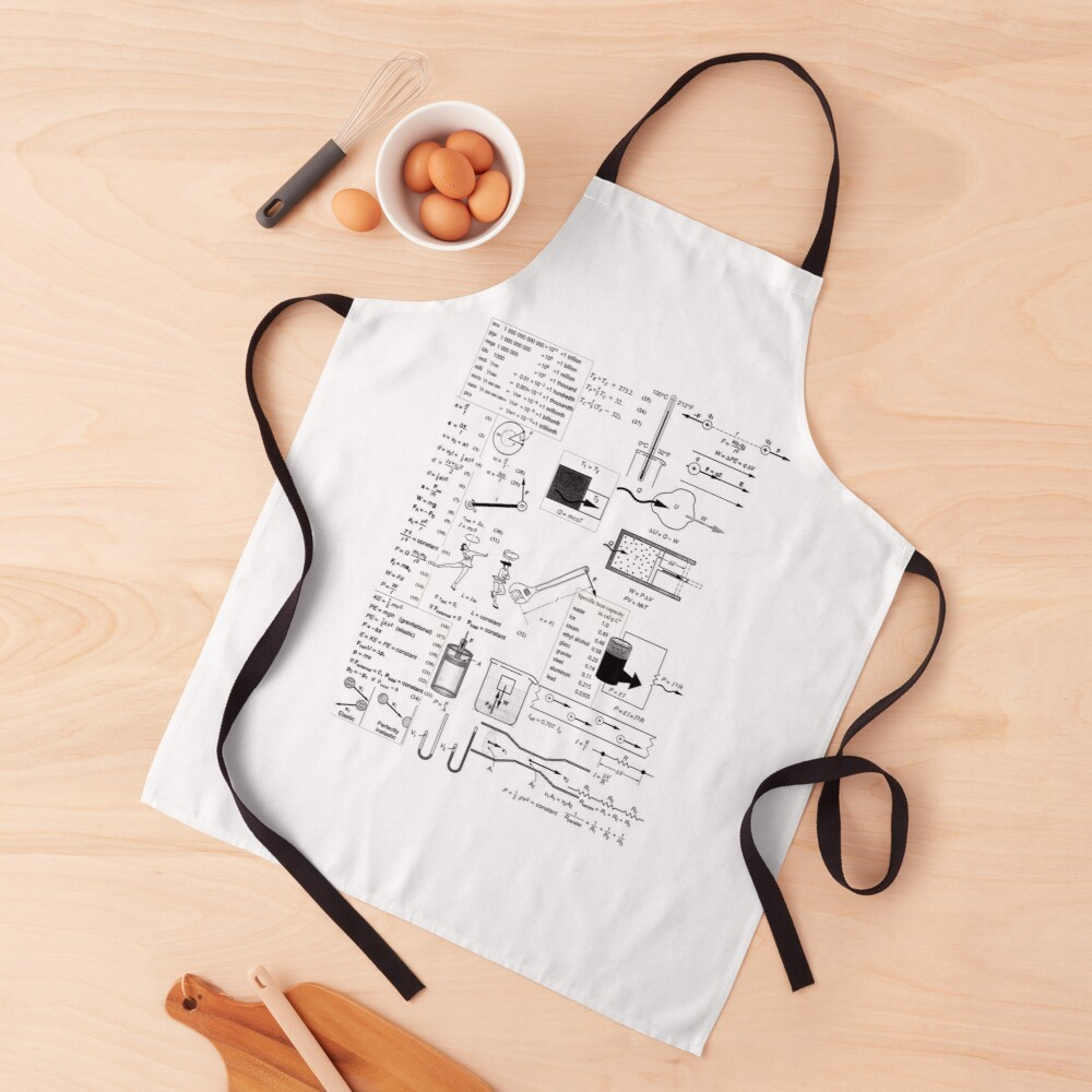 General Physics Formula Set, ur,apron_realistic_flatlay,square,1000x1000