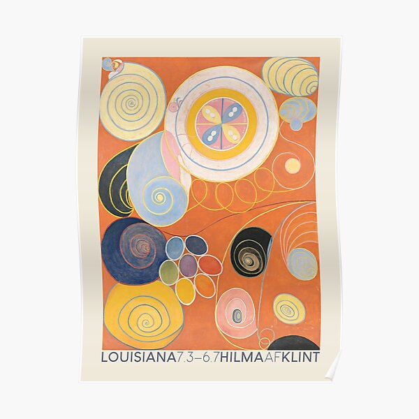 Hilma af Klint. Exhibition poster for The Louisiana Museum of Modern Art in Humlebæk, 2014. Poster