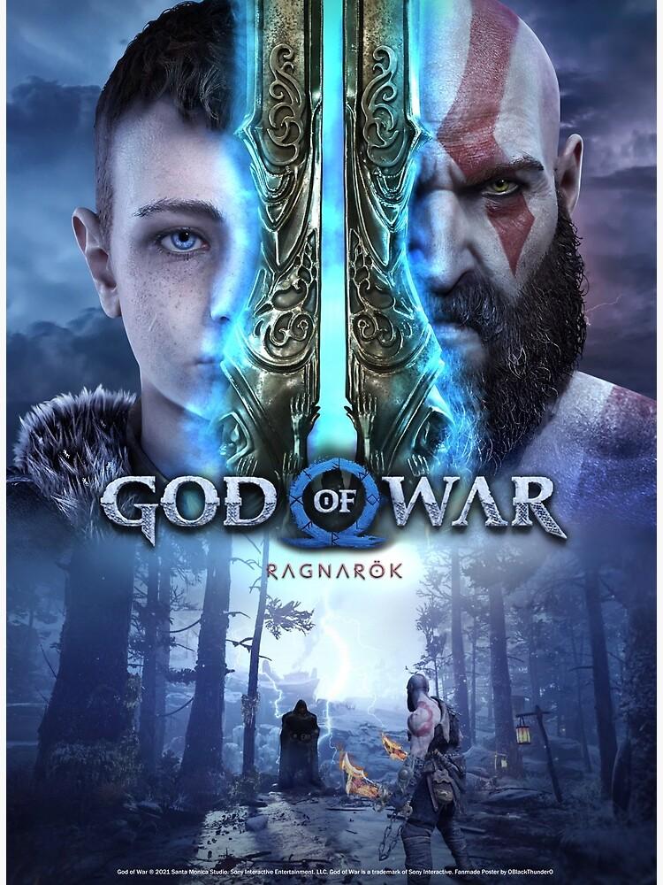 """god of war ragnarok"" posterkarenmanci  redbubble"