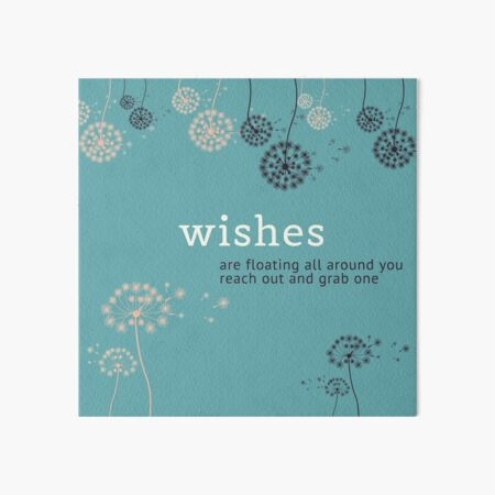 Wishes Are Floating All Around You  Art Board Print