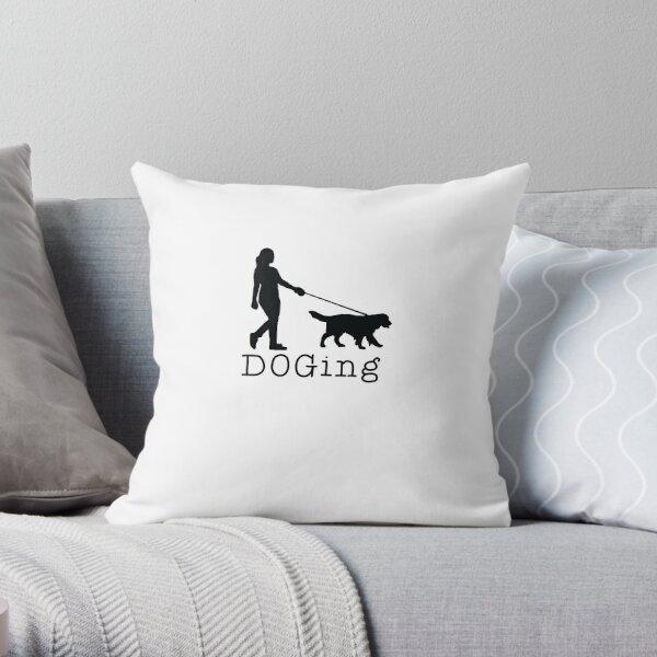 DOGing Throw Pillow
