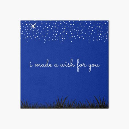 I Made A Wish For You- Starry Night Art Board Print