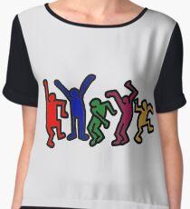Keith Haring  Chiffon Top