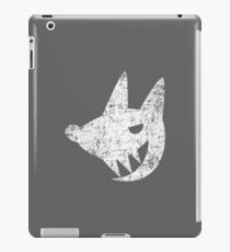 Cute Laughing Wolf - White iPad Case/Skin