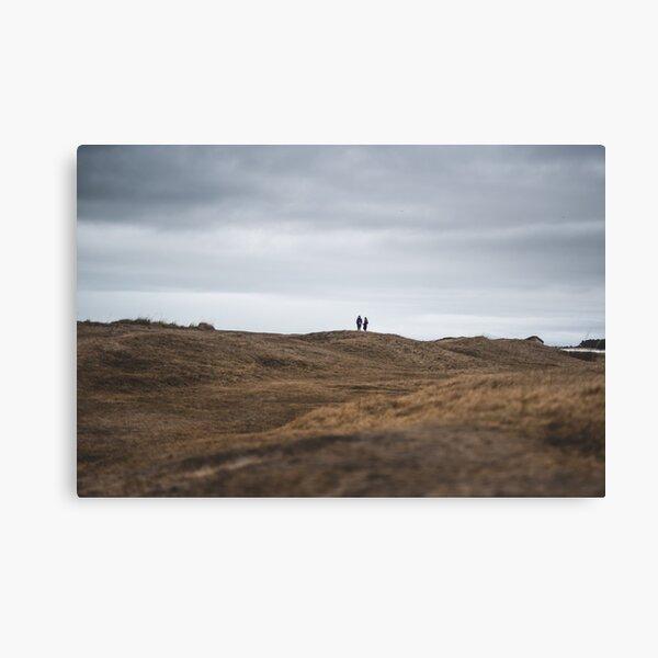 People in Wasteland, Latvian Desert Canvas Print
