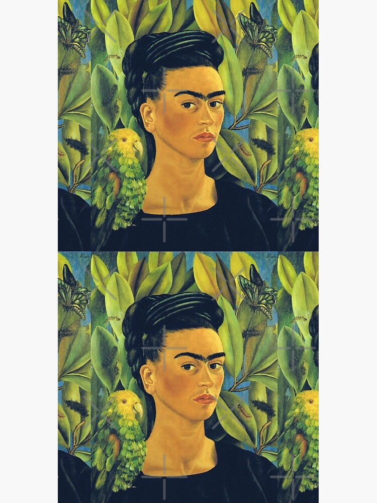 Frida Kahlo Self Portrait with Bonito by Wonderweiss