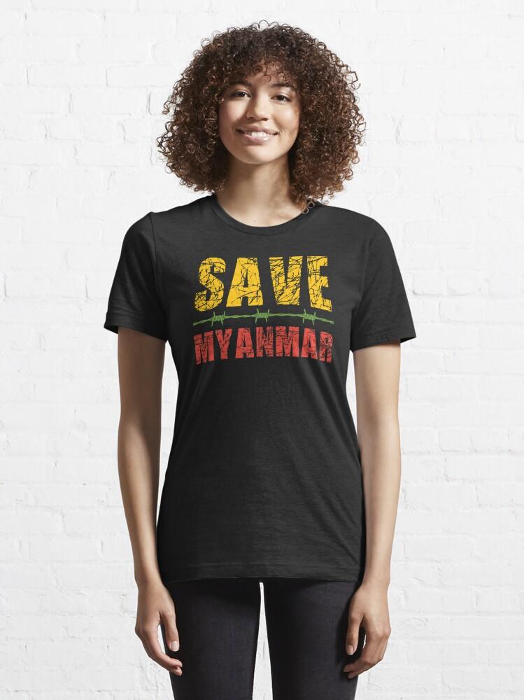 Alternate view of Save Myanmar Essential T-Shirt