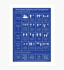 Workplace Bullying and Harassment Poster - UK/ Aus Version Art Print