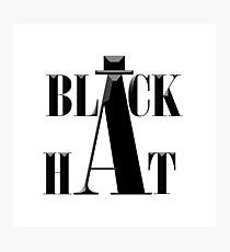 """""""Black Hat"""" typography Photographic Print"""