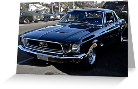 Black Ford Mustang by Ferenghi