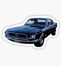 Black Ford Mustang Sticker