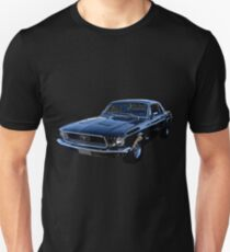 Black Ford Mustang Unisex T-Shirt