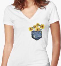 Pocket Full of Sunshine Women's Fitted V-Neck T-Shirt