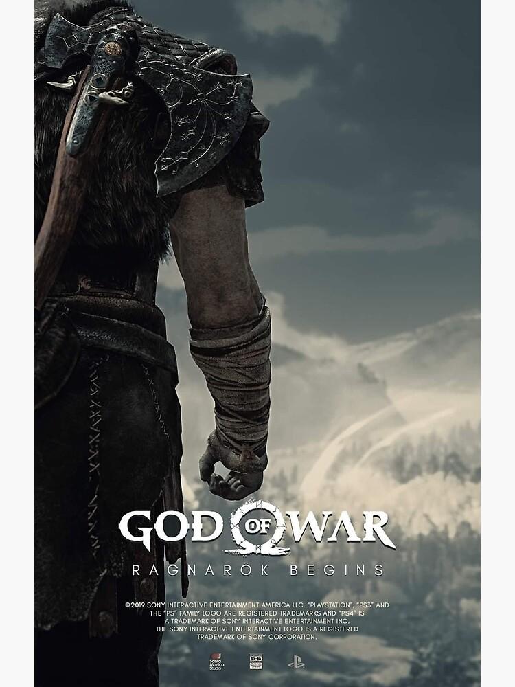 """god of war ragnarok"" postercrocksand  redbubble"