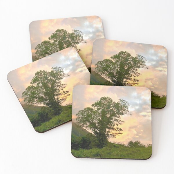 Lone Tree at Dusk Coasters (Set of 4)
