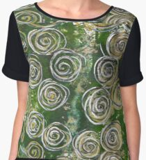 Abstract Circles  Chiffon Top