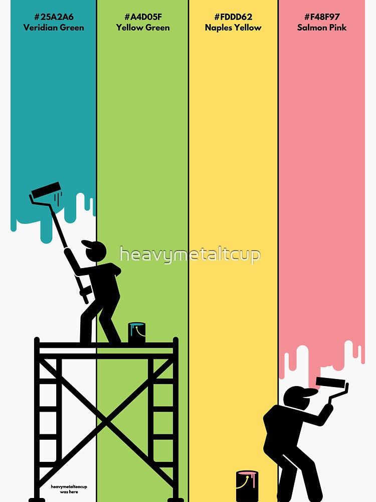 Painters At Work Hex Code Print by heavymetaltcup