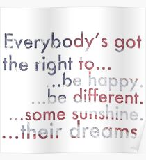 Everybody's Got The Right... Poster