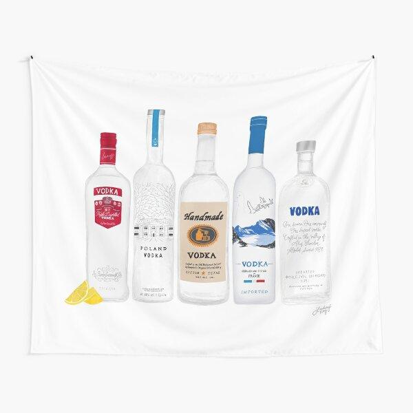Vodka Bottles Illustration Tapestry