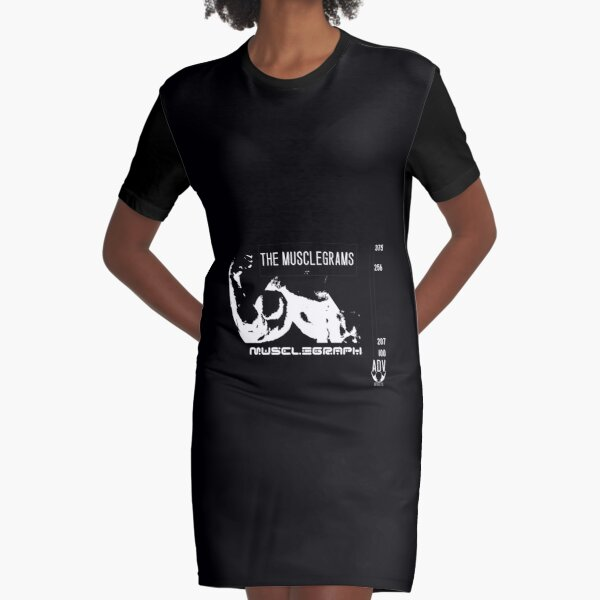 The Musclegrams white Graphic T-Shirt Dress