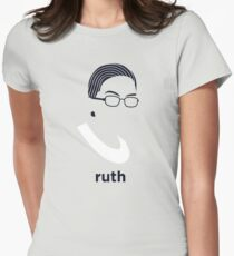 Ruth Bader Ginsburg (Hirsute History) Women's Fitted T-Shirt