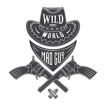 Mad guy cowboy emblem by valerisi